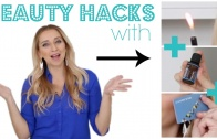 Beauty Hacks with a Match, Essential Oils and a Business Card!