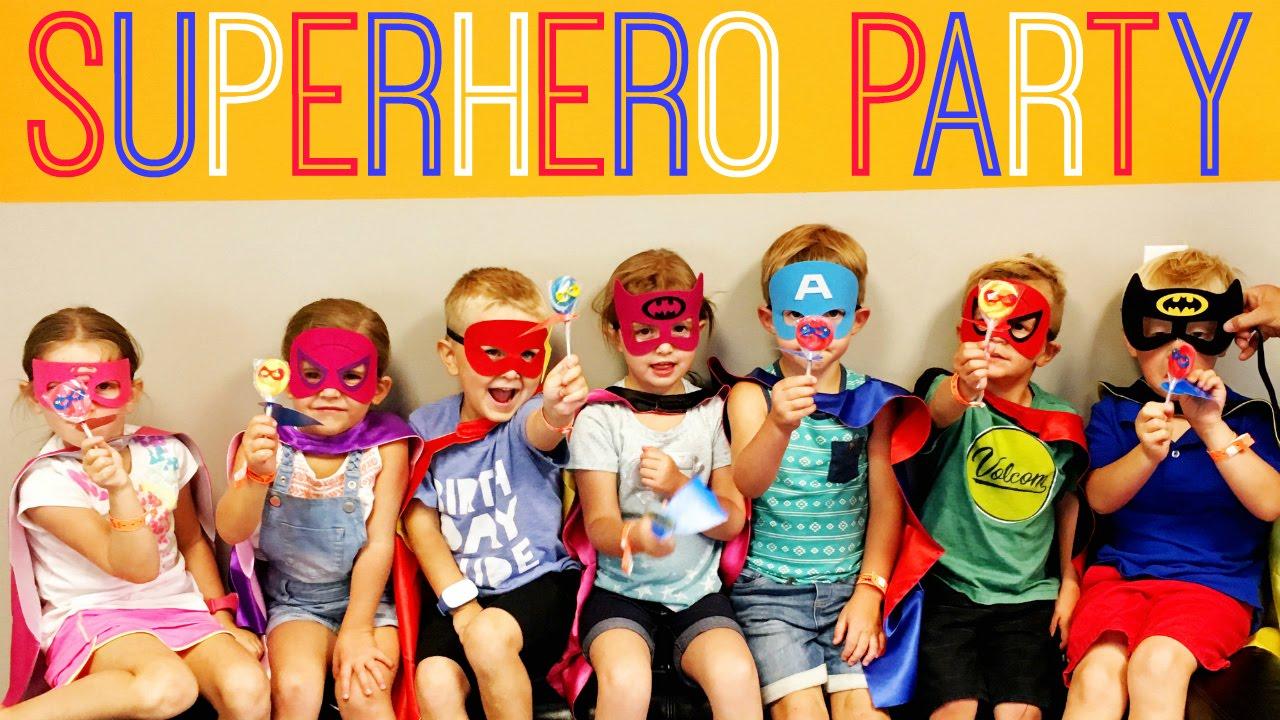 Superhero Birthday Party Ideas DC Comics Marvel