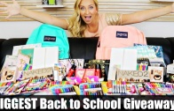 BIGGEST Back to School Giveaway Ever! (iPad Air 2, Jansport, School Supplies, Makeup & More!)