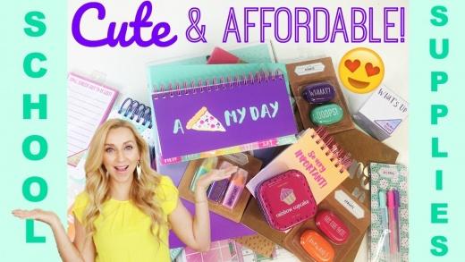 CUTE & Affordable Back to School Supplies Haul 2017 (Target VS. Walmart VS. Office Max)