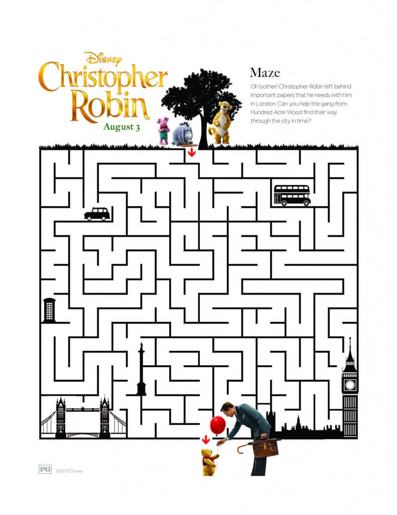 FREE Christopher Robin Printable Coloring Pages and Activity Sheets ...