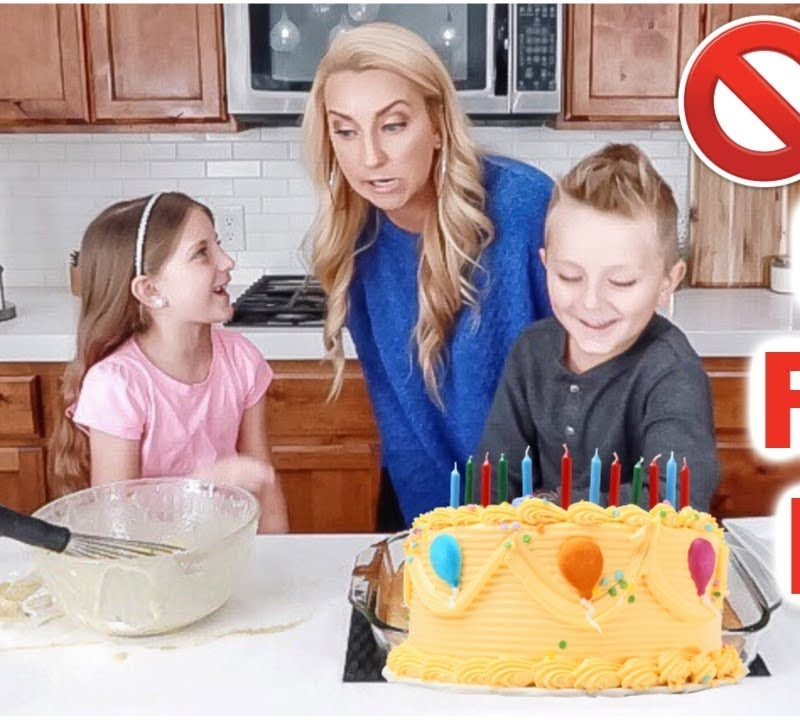 Kids Cake Challenge: Baking a Cake WITHOUT Mom's Help?!😳