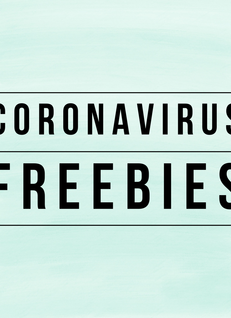 Coronavirus & ALL THE FREEBIES: Education, Entertainment & Services