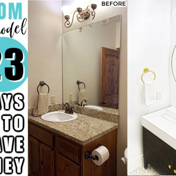 How to Remodel a Bathroom on a Budget + 23 Ways to Save Money Remodeling a Bathroom!